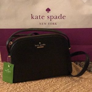 ❣️NWT Kate Spade Black Leather Crossbody Bag